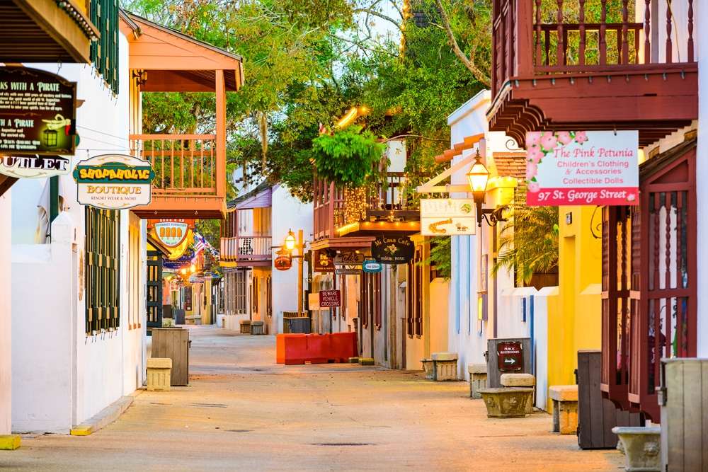 One of the top things to do in St. Augustine is to wander the streets of the historic downtown