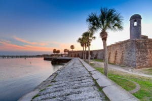 A beautiful view of the old fort, one of the top things to do in St. Augustine