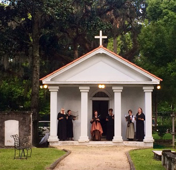 Ceremony at Tolomato Cemetery